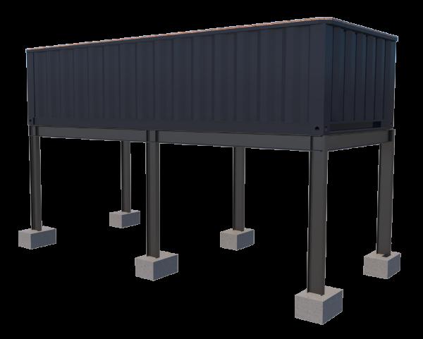Piscine container suspension TinyPool 6m XS