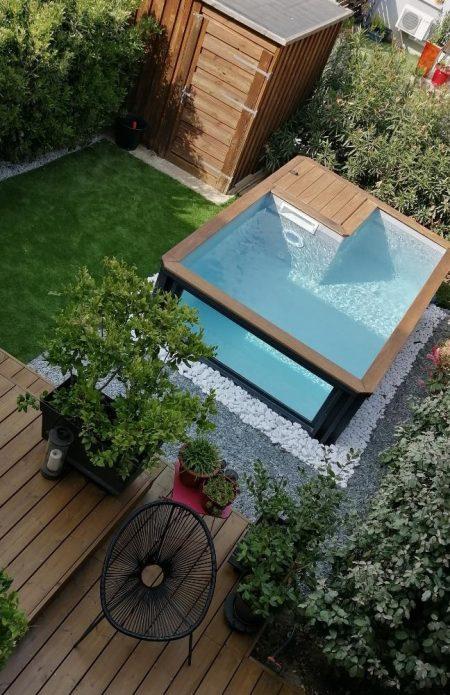 piscine container en Suisse avec fenêtre, canton de Genève, Vaud, Valais, Bern, Fribourg, Jura, Neuchâtel